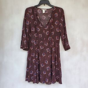 H&M A Line Dress With Bell Sleeves